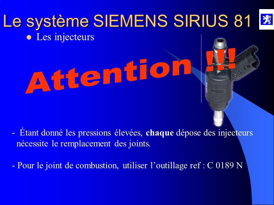 Attention !!! Les injecteurs