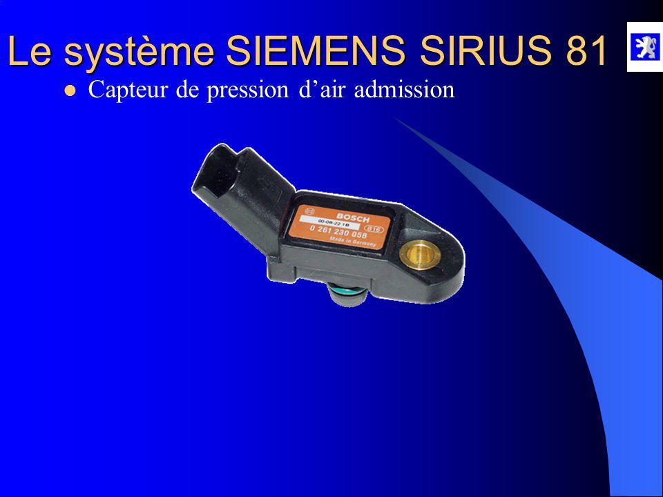 Capteur de pression d'air admission