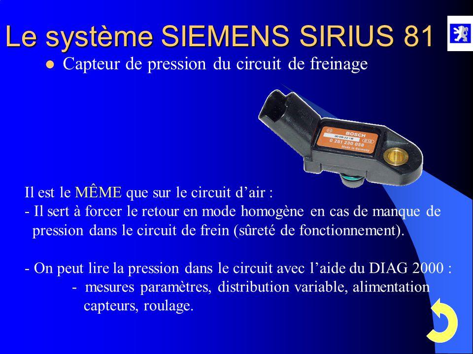 Capteur de pression du circuit de freinage