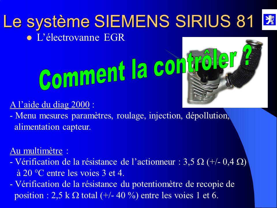 Comment la contrôler L'électrovanne EGR A l'aide du diag 2000 :