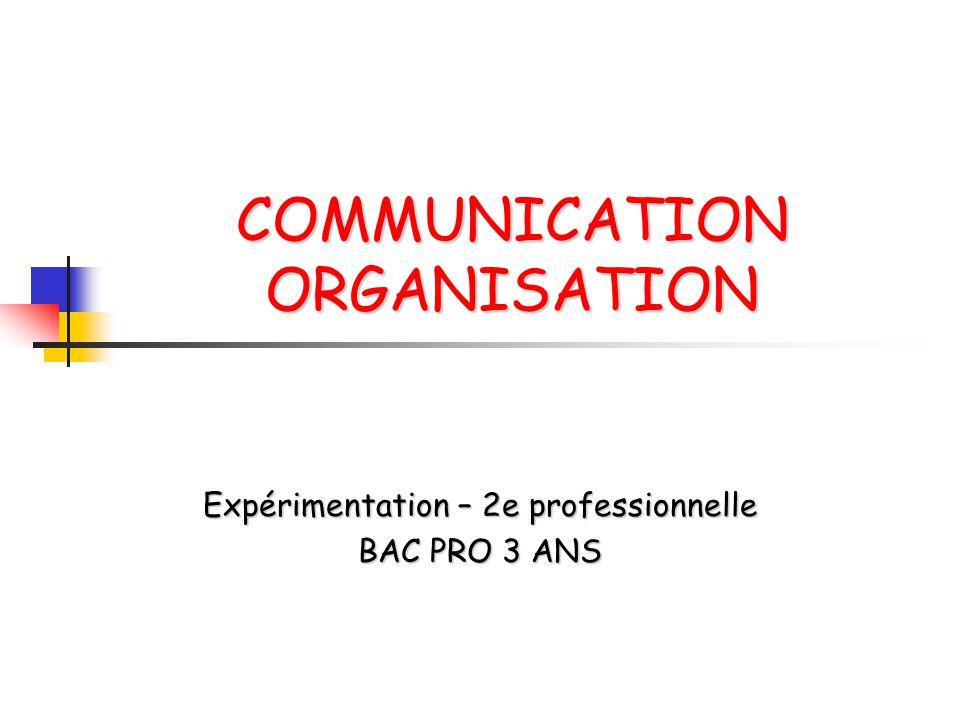 COMMUNICATION ORGANISATION