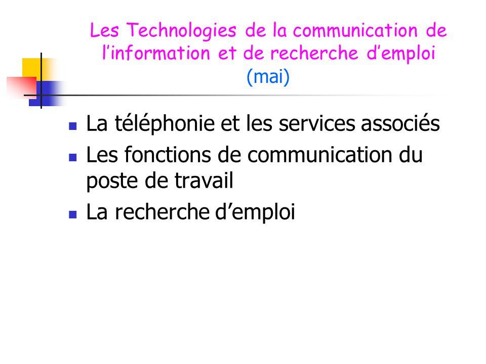 La téléphonie et les services associés