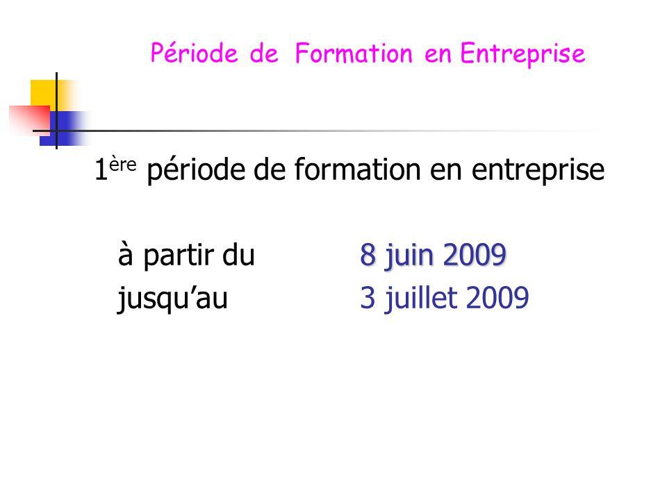 Période de Formation en Entreprise