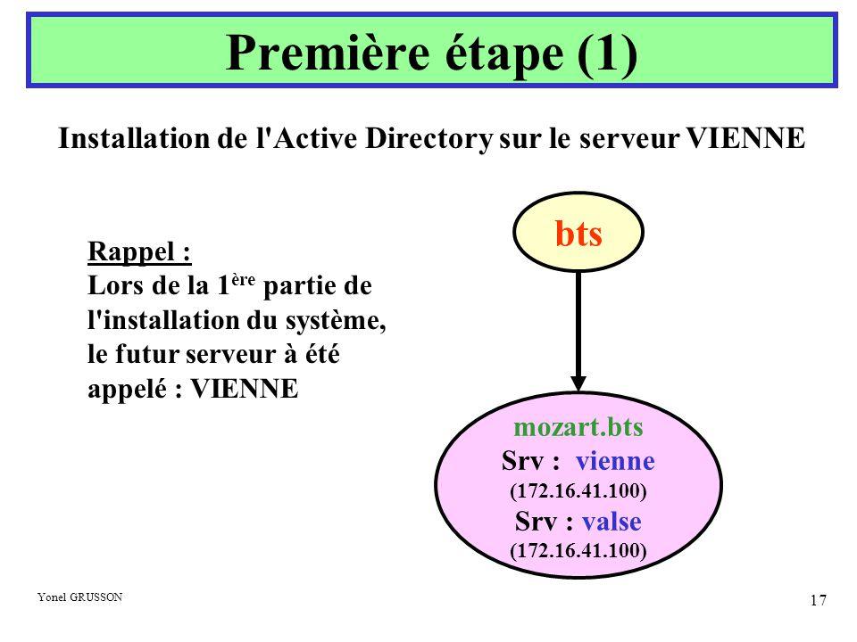 Installation de l Active Directory sur le serveur VIENNE