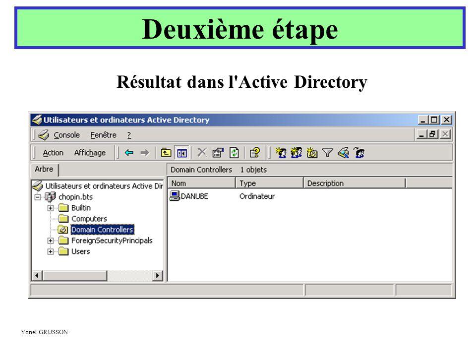 Résultat dans l Active Directory