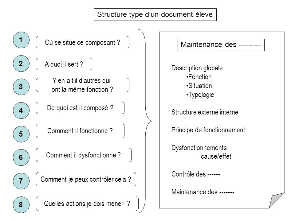 Structure type d'un document élève