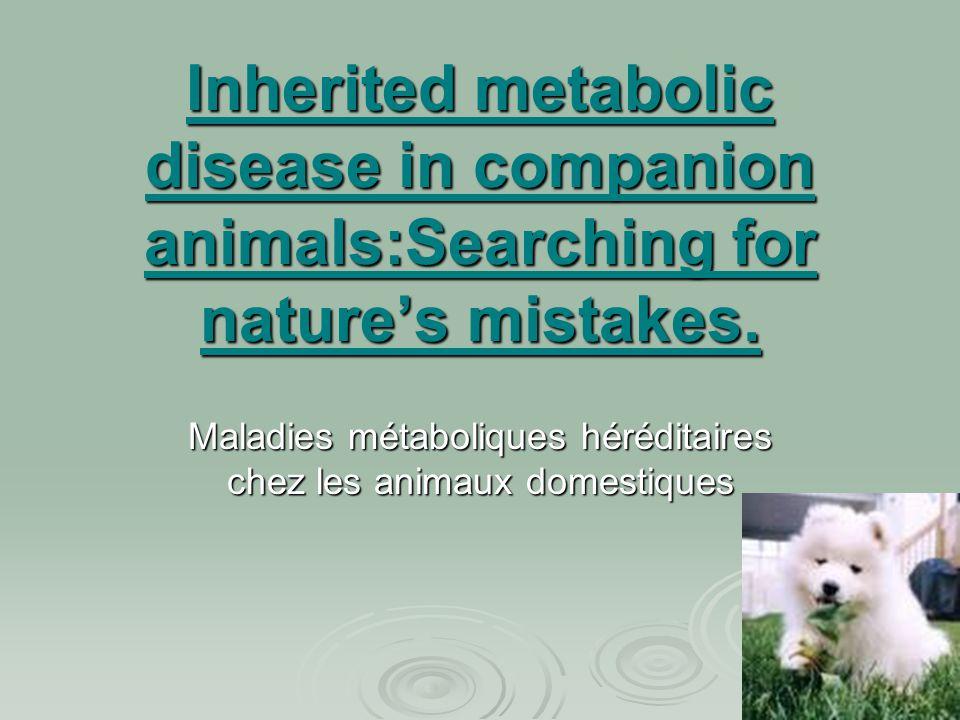 Maladies métaboliques héréditaires chez les animaux domestiques