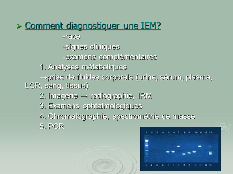 Comment diagnostiquer une IEM