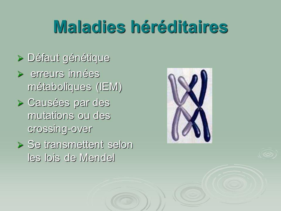 Maladies héréditaires
