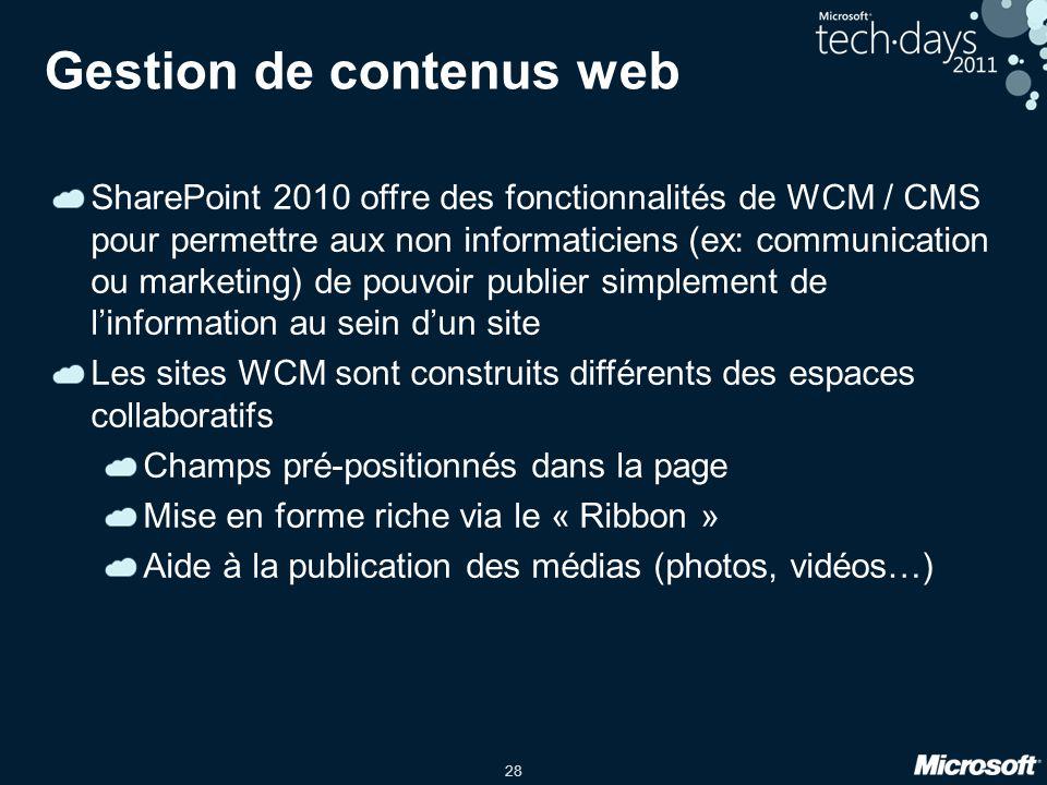 Gestion de contenus web