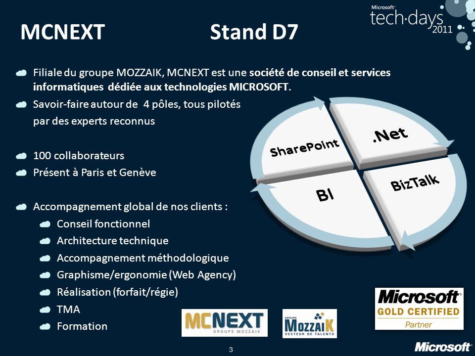 MCNEXT Stand D7 .Net BI BizTalk SharePoint