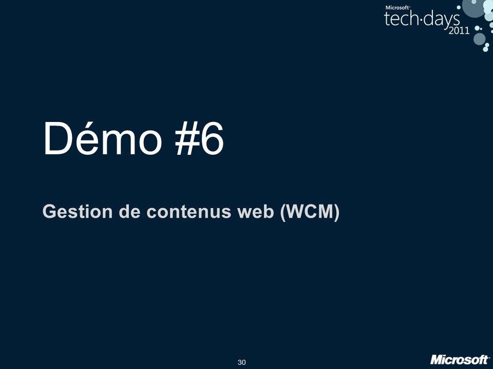 Gestion de contenus web (WCM)