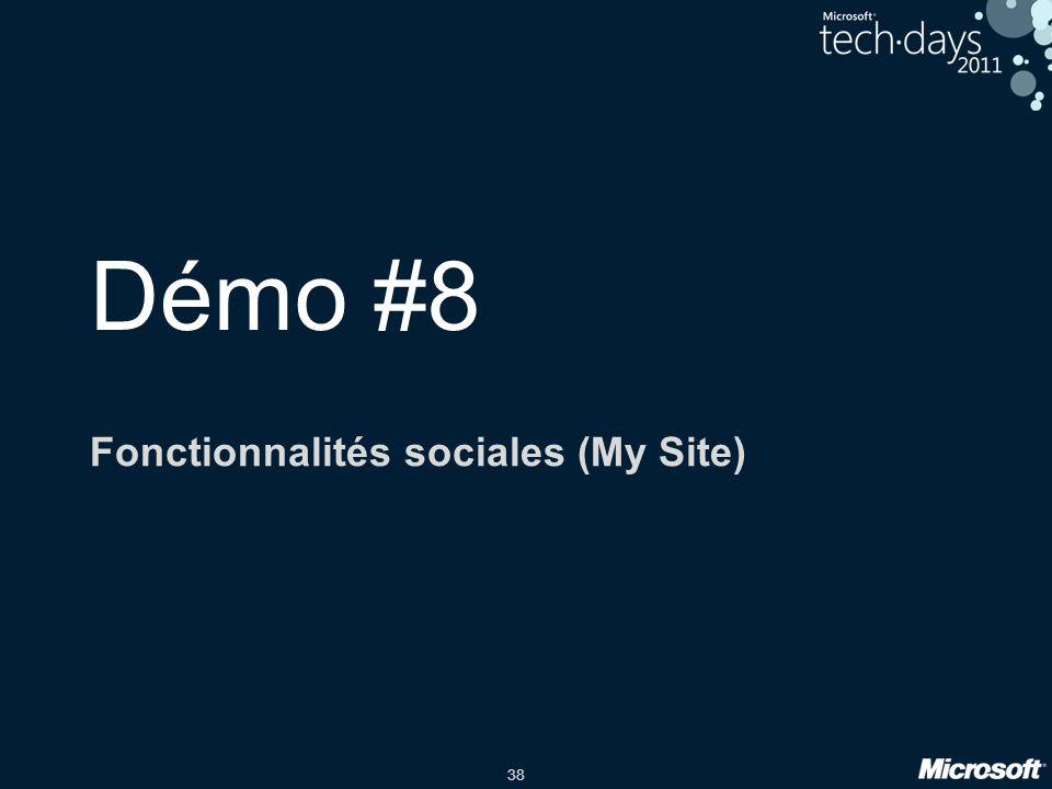 Fonctionnalités sociales (My Site)