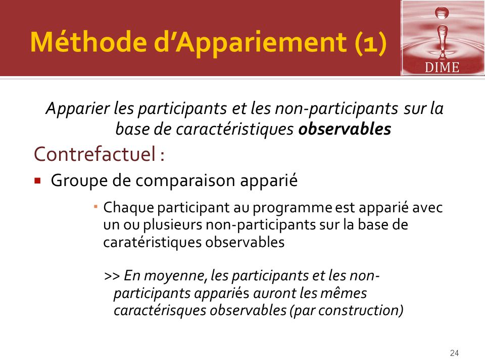 Méthode d'Appariement (1)
