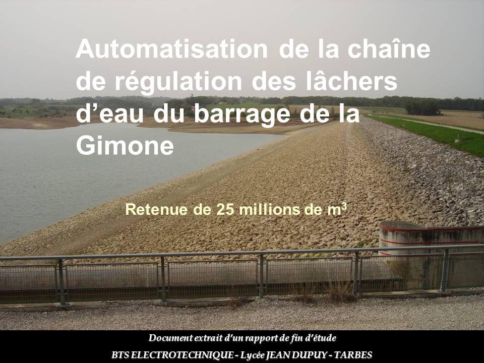 Automatisation de la chaîne de régulation des lâchers d'eau du barrage de la Gimone