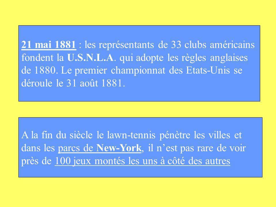 21 mai 1881 : les représentants de 33 clubs américains