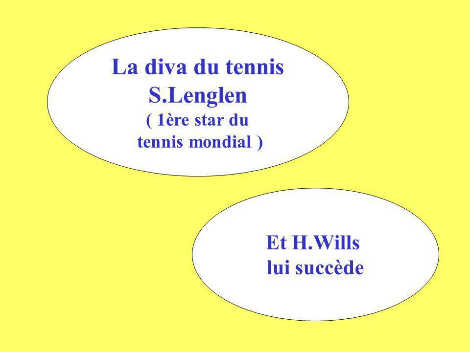 La diva du tennis S.Lenglen