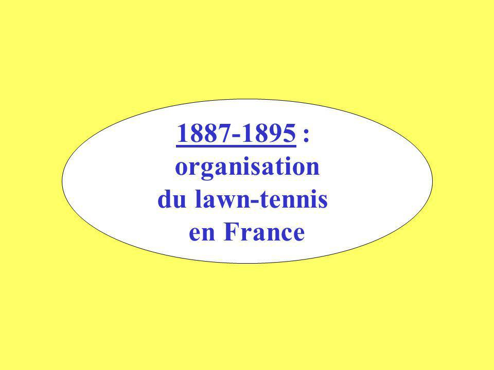 1887-1895 : organisation du lawn-tennis en France