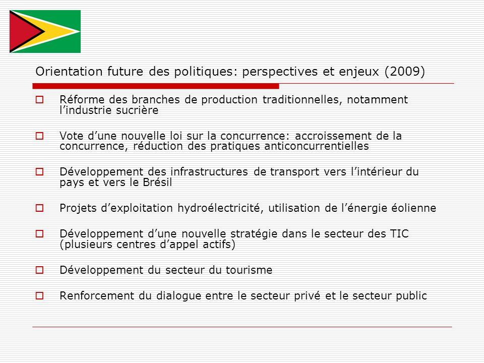 Orientation future des politiques: perspectives et enjeux (2009)