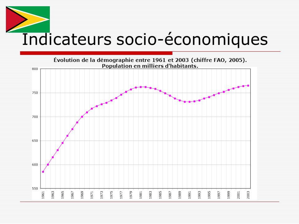 Indicateurs socio-économiques