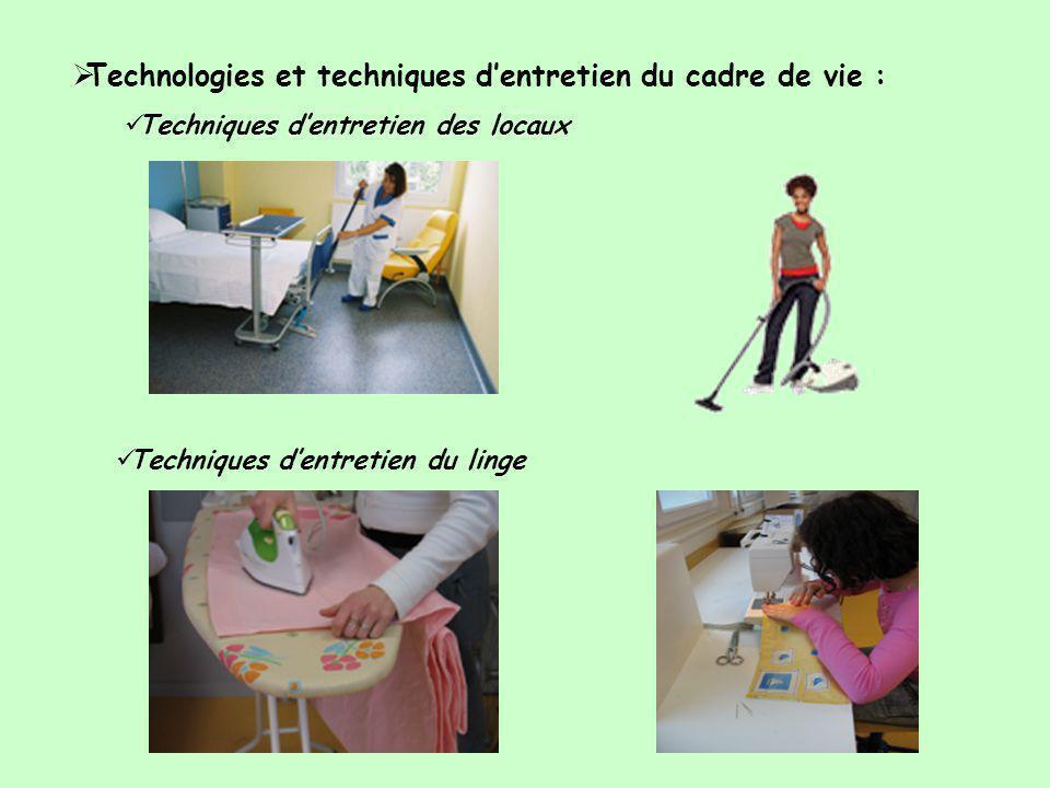 Technologies et techniques d'entretien du cadre de vie :