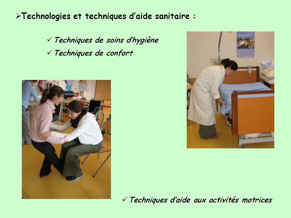 Technologies et techniques d'aide sanitaire :
