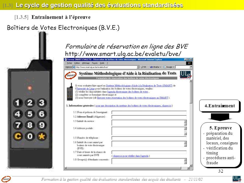 Boîtiers de Votes Electroniques (B.V.E.)