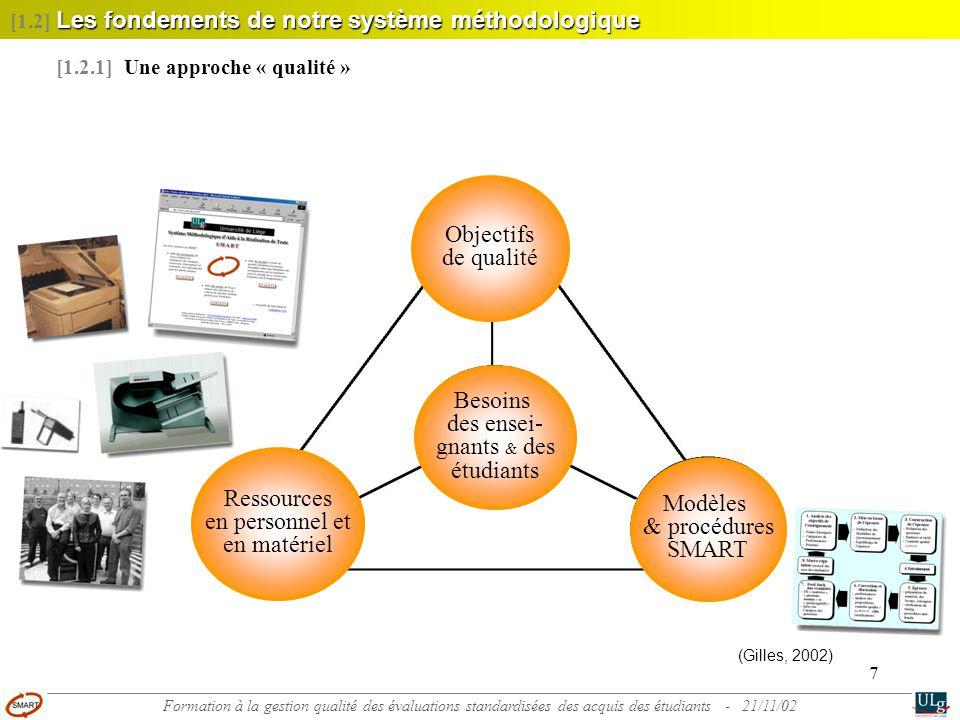 Objectifs de qualité Besoins des ensei- gnants & des étudiants