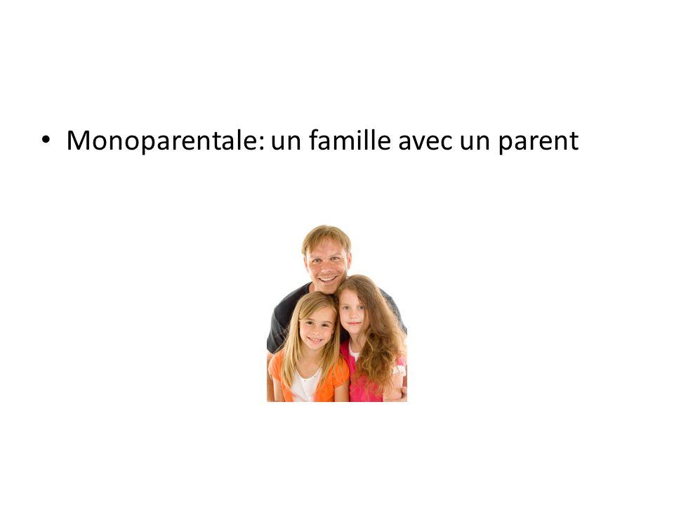 Monoparentale: un famille avec un parent