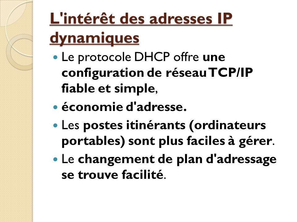L intérêt des adresses IP dynamiques