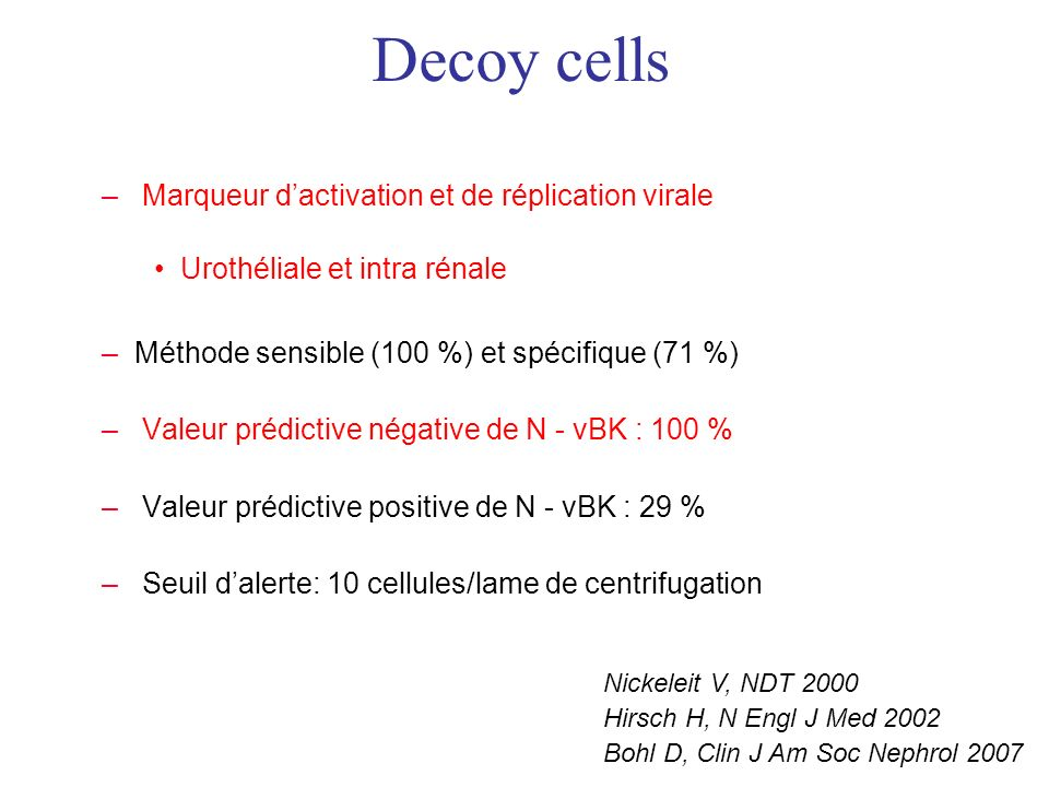 Decoy cells Marqueur d'activation et de réplication virale