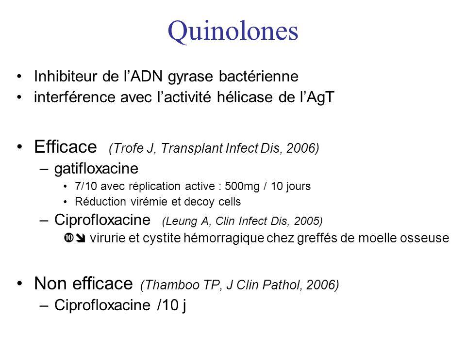 Quinolones Efficace (Trofe J, Transplant Infect Dis, 2006)