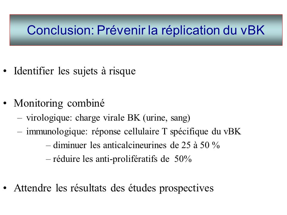 Conclusion: Prévenir la réplication du vBK