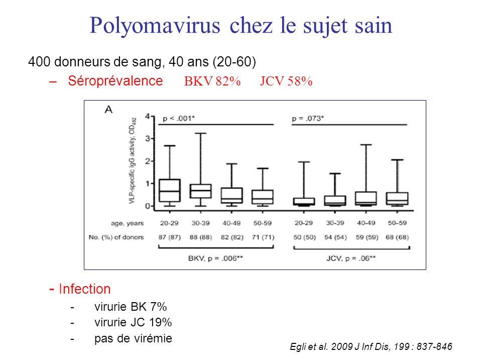 Polyomavirus chez le sujet sain