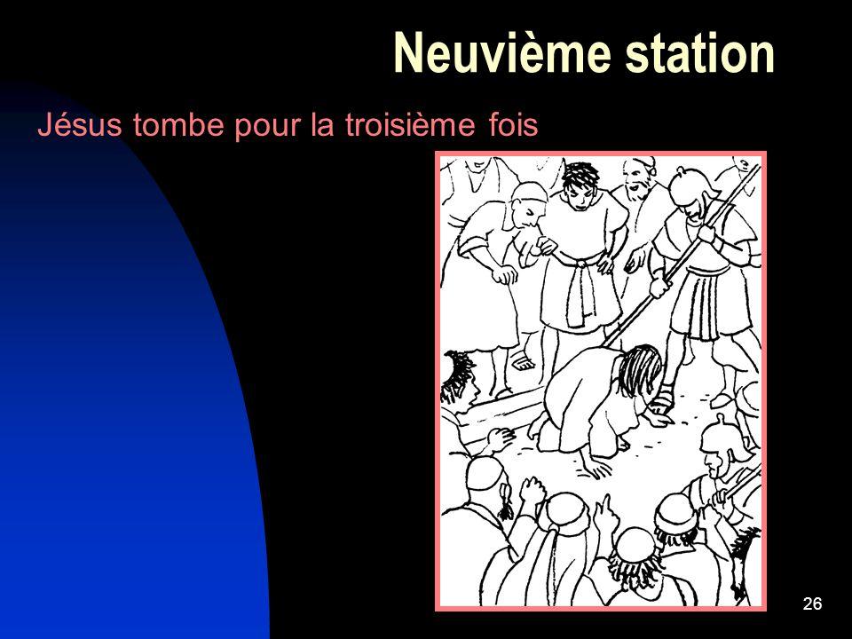 Neuvième station Jésus tombe pour la troisième fois