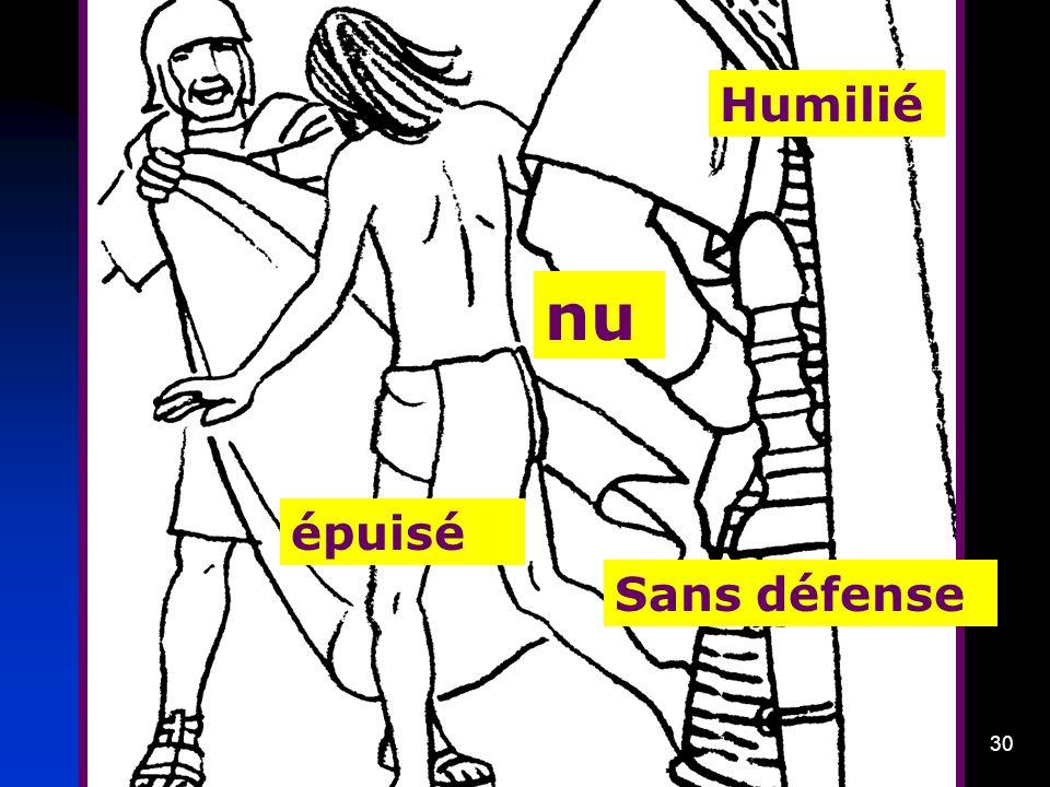 Humilié nu épuisé Sans défense