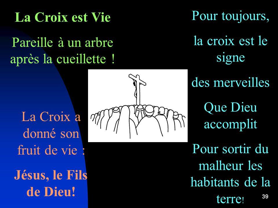 La Croix est Vie Jésus, le Fils de Dieu!