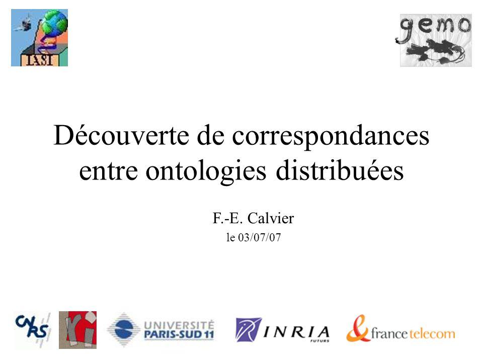 Découverte de correspondances entre ontologies distribuées