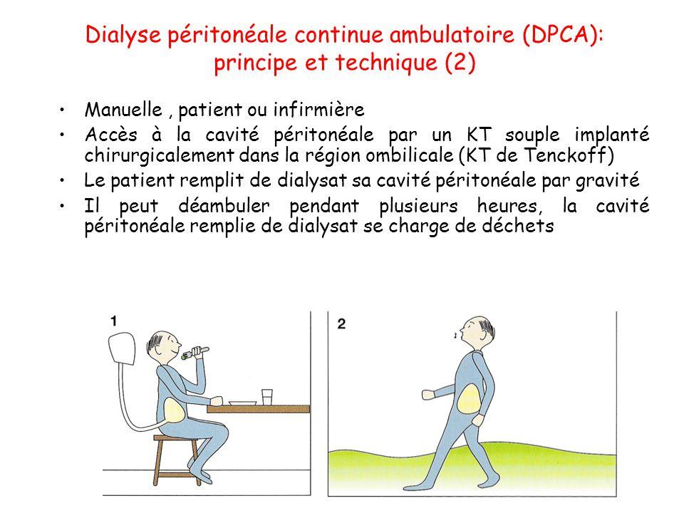 Dialyse péritonéale continue ambulatoire (DPCA): principe et technique (2)