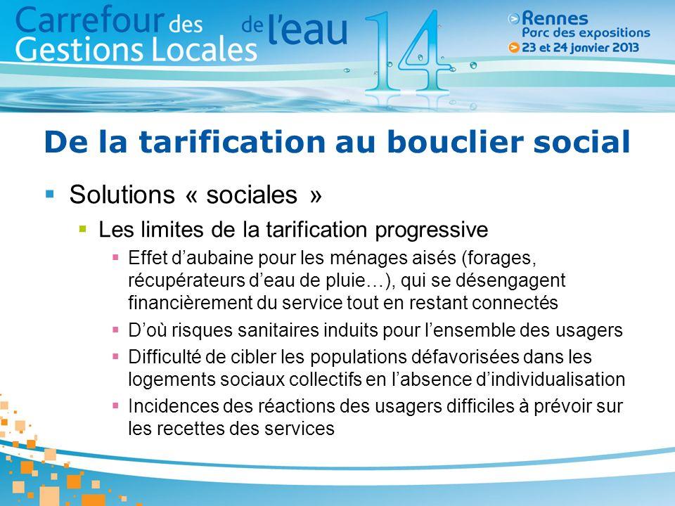 De la tarification au bouclier social