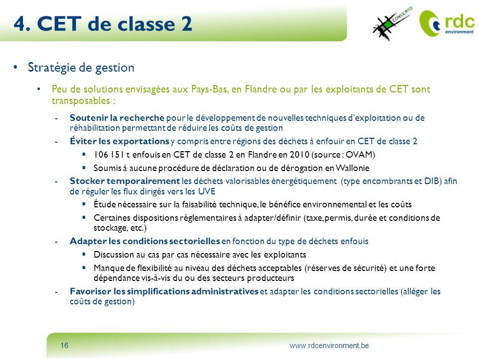 4. CET de classe 2 Stratégie de gestion