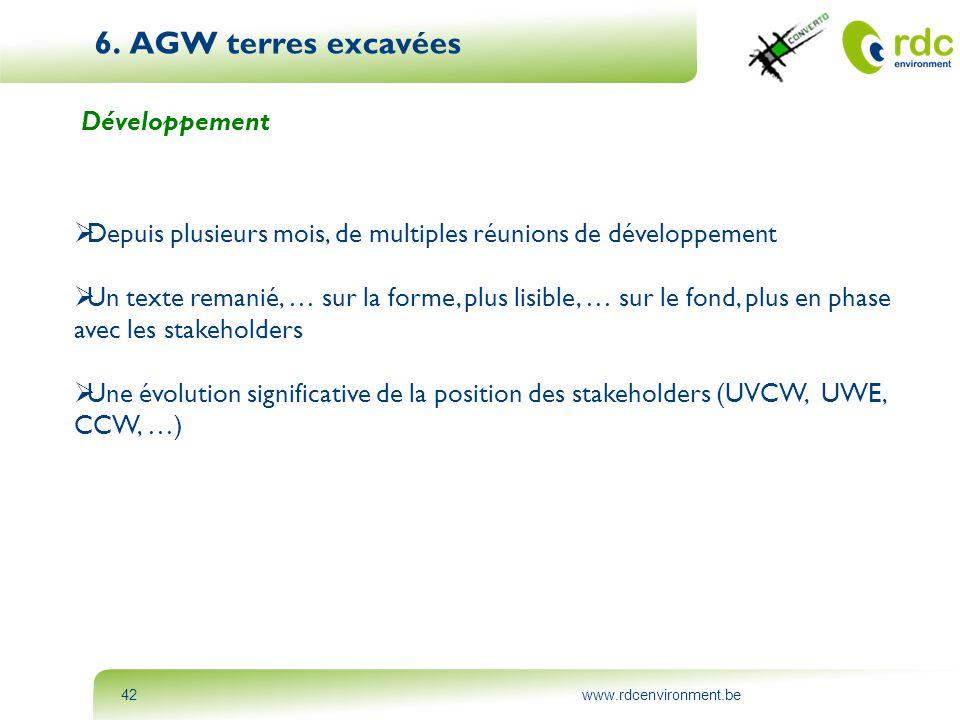 6. AGW terres excavées Développement