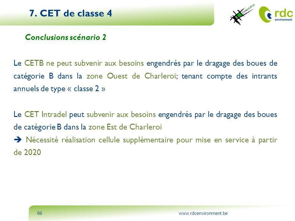 7. CET de classe 4 Conclusions scénario 2