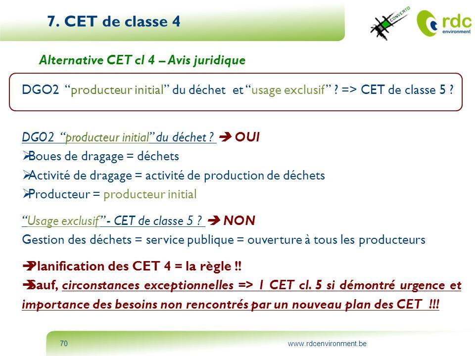 7. CET de classe 4 Alternative CET cl 4 – Avis juridique