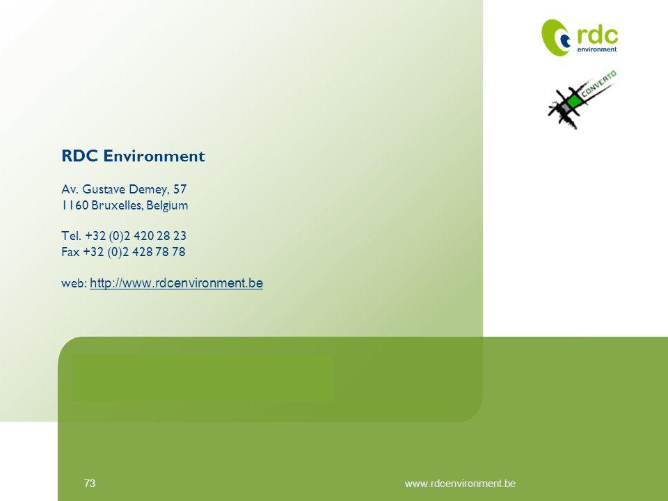 RDC Environment Av. Gustave Demey, 57 1160 Bruxelles, Belgium Tel
