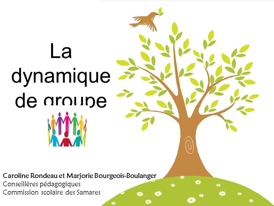 La dynamique de groupe Caroline Rondeau et Marjorie Bourgeois-Boulanger. Conseillères pédagogiques.