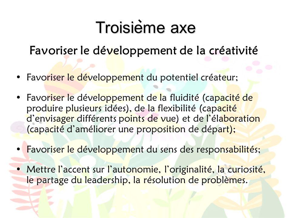 Favoriser le développement de la créativité
