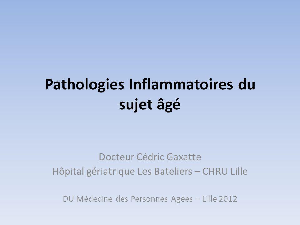 Pathologies Inflammatoires du sujet âgé