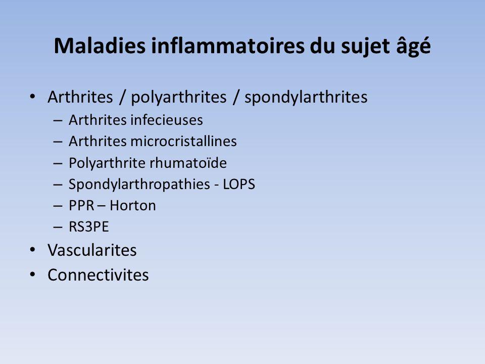 Maladies inflammatoires du sujet âgé