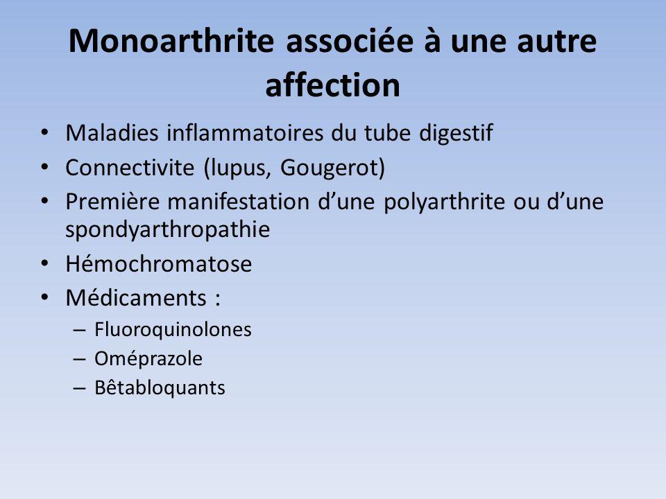 Monoarthrite associée à une autre affection